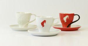 (V.l.): Julius Meinl Premium Ivory Espresso, Julius Meinl Espresso Tasse und die Deluxe-Ausgabe für schlappe 22 Euro, Julius Meinl Trend Espresso Tasse.