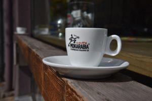 """""""Außenbestuhlung"""" des Kaffino in Nürnberg. Für einen Espresso reicht es locker."""