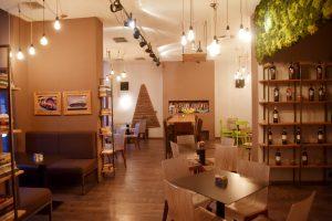 Gastraum des Cafe Espressee