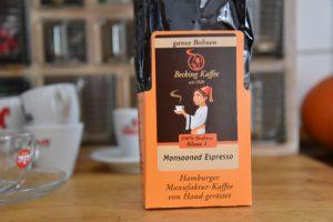 Für mich der Knüller aus der Rösttrommel von Becking: der Monsooned Espresso